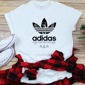 Nice Adidas All Day I Dream About Harry Potter shirt