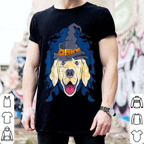 Nice Golden Retriever Witch Funny Halloween Gifts Dog Lover Women shirt