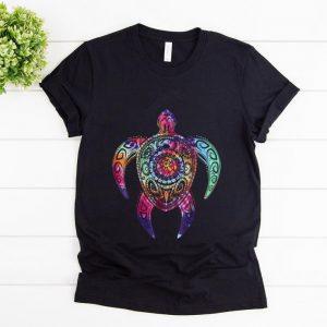 Nice Hippie Tie Dye Psychedelic Sea Turtle shirt