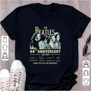 Nice The Beatles 60th Anniversary Thank You For Memories Signature shirt
