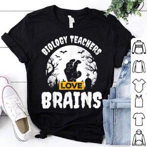 Official Biology Teachers Love Brains Teacher Gift Halloween shirt