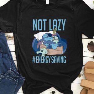 Official Disney Lilo & Stitch Not Lazy Energy Saving shirt