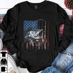 Official Fishing American Flag shirt