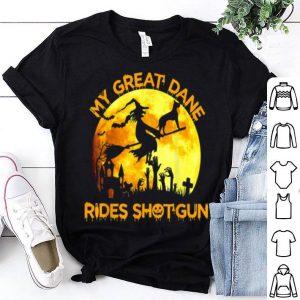 Official My Great Dane Rides Shotgun Halloween Gift For Dog Lovers shirt