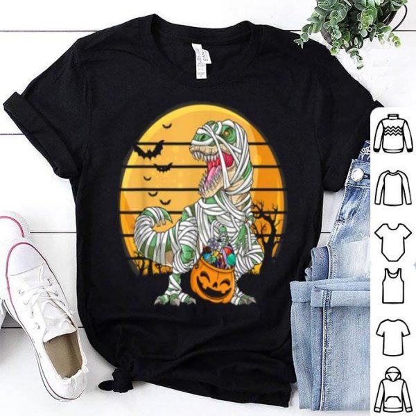 Original Dinosaur Skeleton With Candy Pumpkin Halloween Gifts shirt