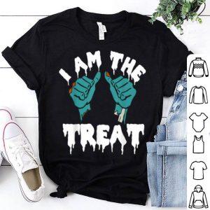 Original Halloween I Am The Treat Zombie Hands Graphic shirt