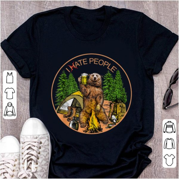 Original I hate people I eat people Bear Camping shirt
