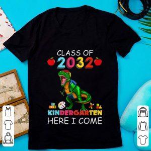 Premium Class Of 2032 Kingdergarten Here I Come shirt
