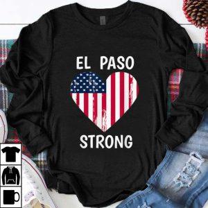 Premium El Paso Strong American Flag Heart shirt
