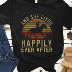Premium Horse And She Lived Happily Ever After Vintage shirt