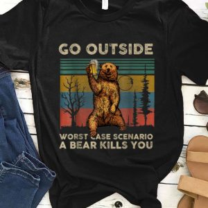 Premium Vintage Go Outside Worst Case Scenario A Bear Kills You shirt