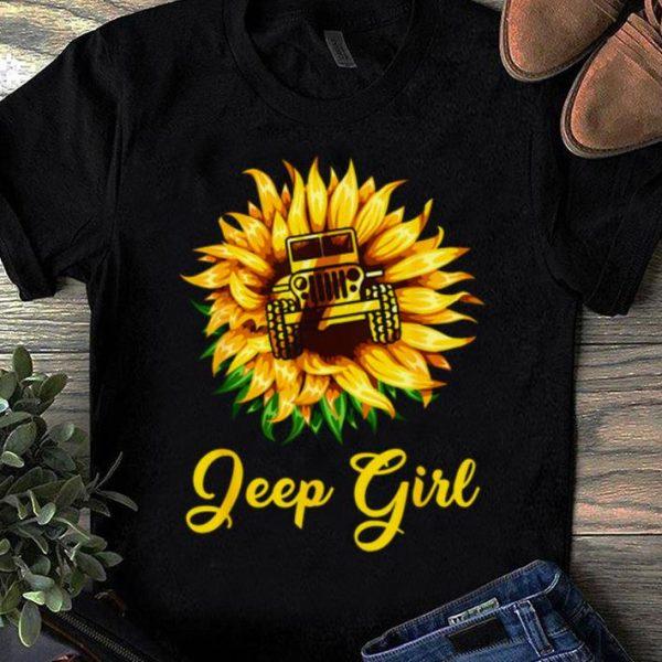 Pretty Sunflower Jeep Girl shirt