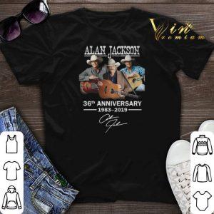 Signature Alan Jackson 36th anniversary 1983-2019 shirt
