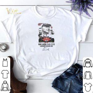 Signature Niki Lauda 1949-2019 Legends Never Die shirt