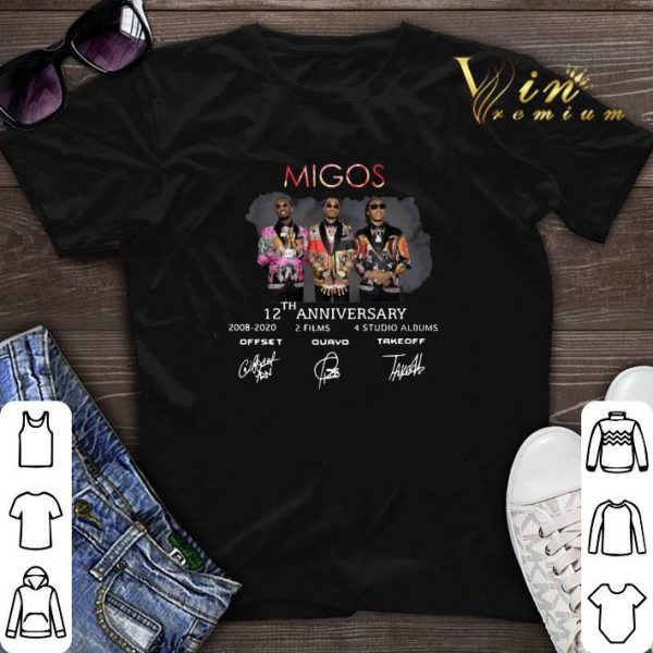 Signatures-Recovered Migos 12th Anniversary shirt