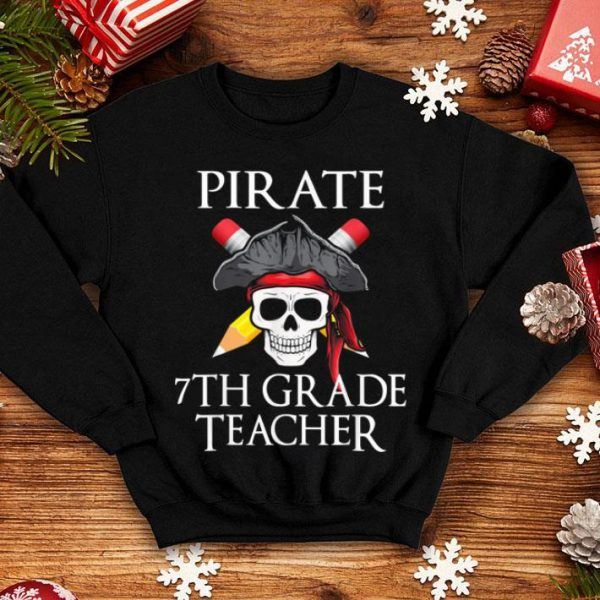 Top 7th Grade Teacher Halloween Party Costume Gift shirt