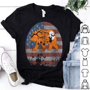 Top American Flag And Papa Bear Funny Halloween shirt