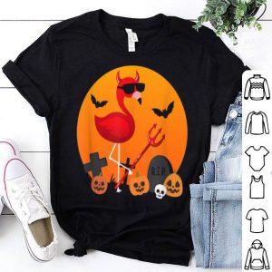 Top Cute Funny Devil Flamingo Lover Pumpkin Halloween Party shirt