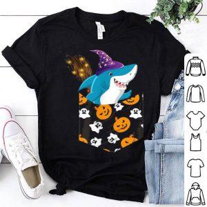 Top Cute Shark Pumkin Pocket Halloween Costume Scary Gift shirt