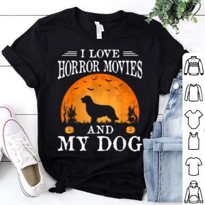 Top I Love Horror Movies And My Dog Halloween Costume Gift shirt