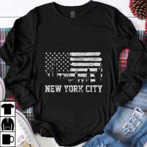 Top New York City American Flag shirt