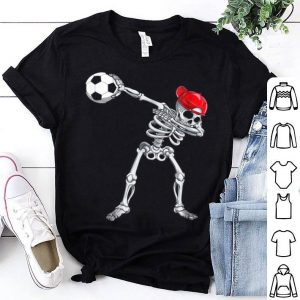 Top Skeleton Dabbing With Soccer Halloween Costume Gift shirt