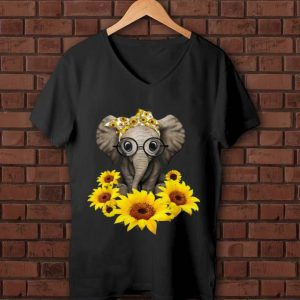 Top Sunflower Headband Elephant shirt