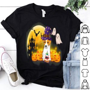 Awesome Jack Russell Terrier Witch Pumpkin Halloween Costume shirt