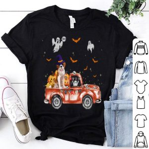 Beautiful St Bernard Truck Pumpkin Halloween Gift For Dog Lovers shirt
