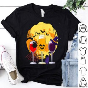 Beautiful Wine Glass Of Witchcraft Halloween shirt