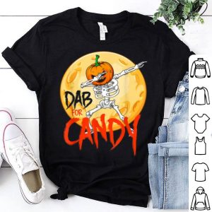 Dabbing Halloween Pumpkin Skeleton Dab For Candy shirt