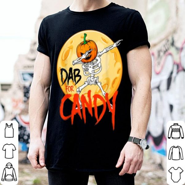 Dabbing Halloween Pumpkin Skeleton Dab For Candy shirt
