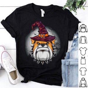 English Bulldog Witch Halloween Costume Gifts shirt