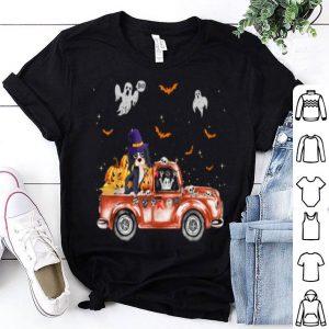 Funny Spaniel Truck Pumpkin Halloween Gift For Dog Lovers shirt