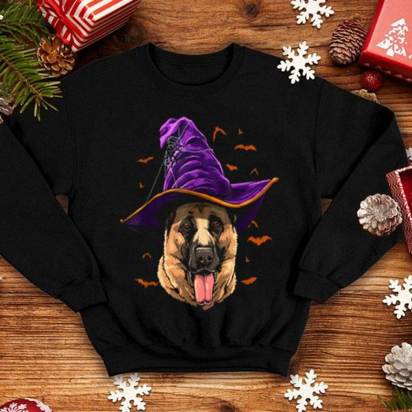 German Shepherd Witch Funny Halloween Dog Lover shirt