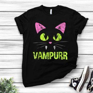 Halloween Scary Cat Vampire Vampurr Women Girl shirt