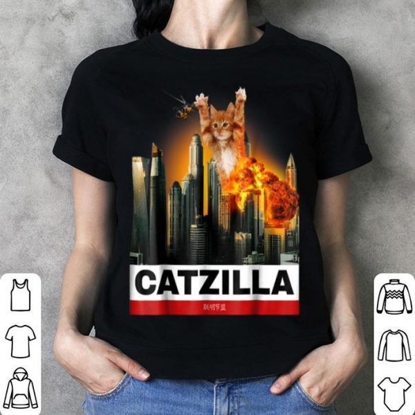 Hot CATZILLA - Funny Kitty for Cat lovers to Halloween shirt
