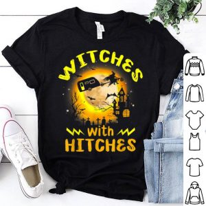 Hot Camping Halloween Witches with Hitches Funny Costume Gifts shirt