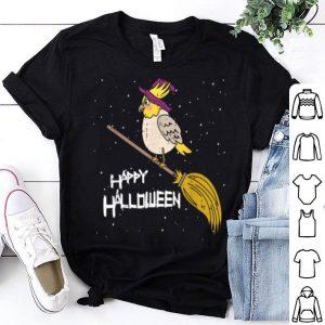 Hot Cockatiel Witch Broomstick Night Cute Bird Halloween shirt
