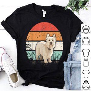 Hot Vintage Retro Cairn Terrier Sunset Dog Lover shirt