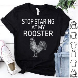 Mens Staring At My Rooster Dirty Adults Halloween Costume shirt