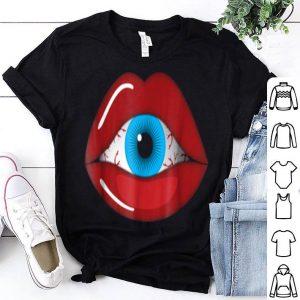Nice Halloween Horror - Creepy Eyeball Inside Woman Lips shirt