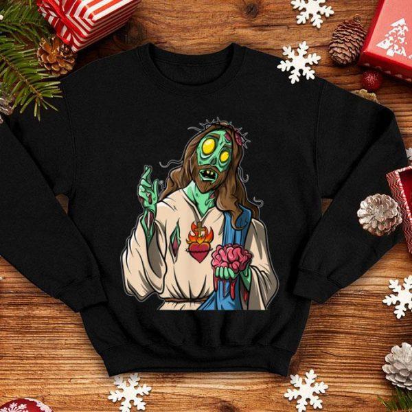 Nice Zombie Jesus Halloween shirt