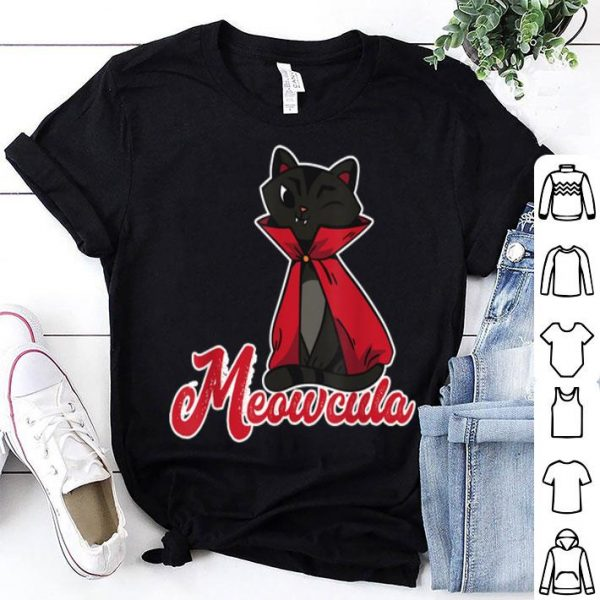 Official Meowcula Creepy Kitten Cat Owner Spooky Halloween Costume shirt
