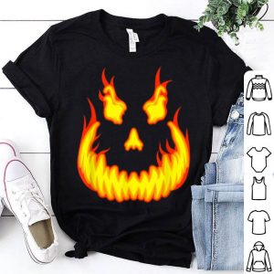 Official Pumpkin Evil Smile Scary Fiery Jack O'lantern Halloween shirt