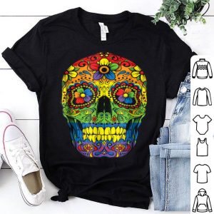 Original Sugar Skull Gay Pride LGBT Rainbow Flag Lesbian Gift shirt