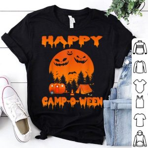 Premium Happy Camp-o-ween Funny Camping Halloween For Women shirt