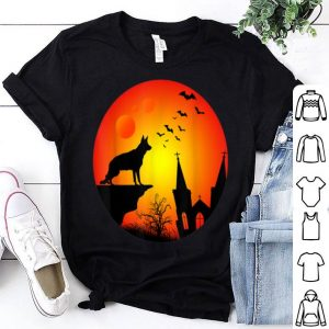 Top Full Moon German Shepherd Lovers Halloween Gift shirt