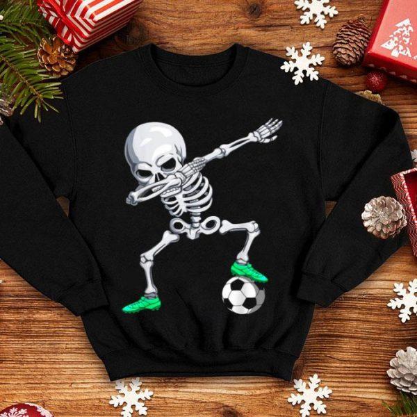 Top Halloween Dabbing Skeleton Apparel, Soccer Player Dab Boys shirt