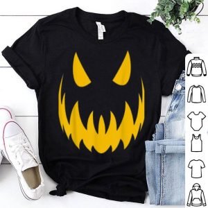 Top Pumpkin Face Portrait Halloween shirt